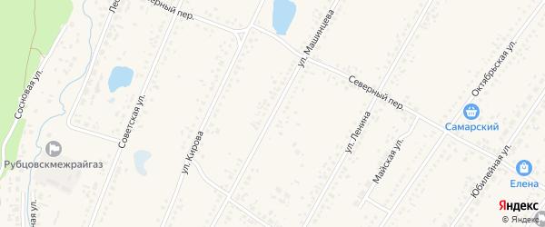 Улица Машинцева на карте Новоегорьевского села с номерами домов