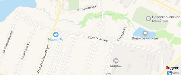 Прудской переулок на карте Новоегорьевского села с номерами домов