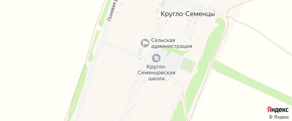 Центральная улица на карте села Кругло-Семенцы с номерами домов