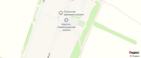 Школьный переулок на карте села Кругло-Семенцы с номерами домов