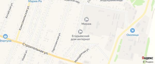 Молодежная улица на карте Новоегорьевского села с номерами домов