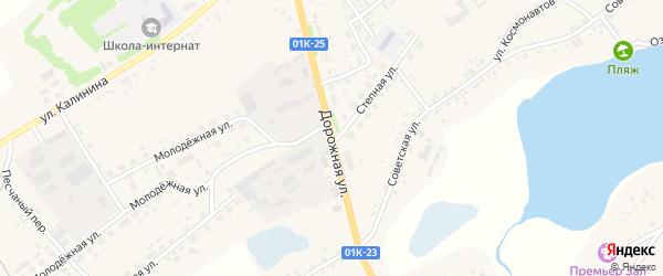 Дорожная улица на карте села Завьялово с номерами домов