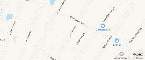 Улица Ленина на карте Новоегорьевского села с номерами домов