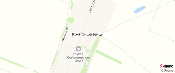 Карта села Кругло-Семенцы в Алтайском крае с улицами и номерами домов