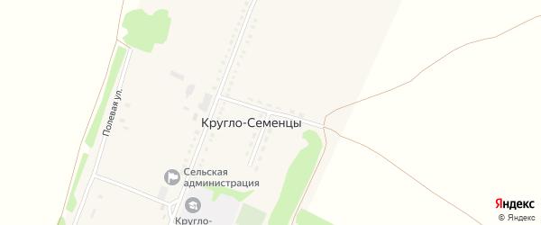 Новый переулок на карте села Кругло-Семенцы с номерами домов