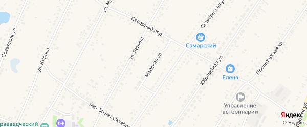 Майская улица на карте Новоегорьевского села с номерами домов