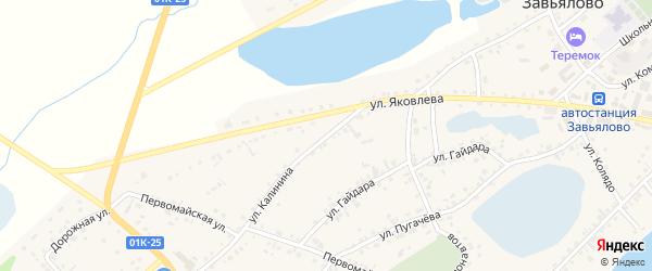 Улица Калинина на карте села Завьялово с номерами домов