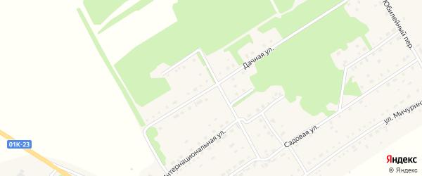 Дачная улица на карте села Завьялово с номерами домов
