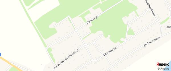 Школьный переулок на карте села Завьялово с номерами домов