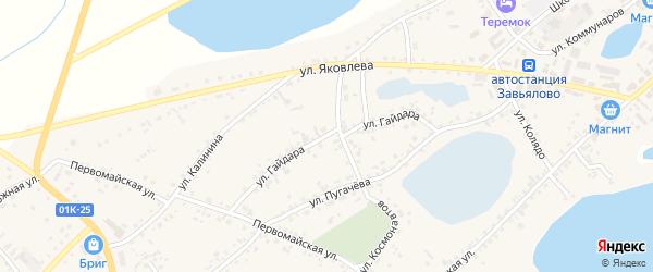 Улица Гайдара на карте села Завьялово с номерами домов