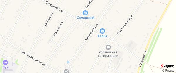 Юбилейная улица на карте Новоегорьевского села с номерами домов