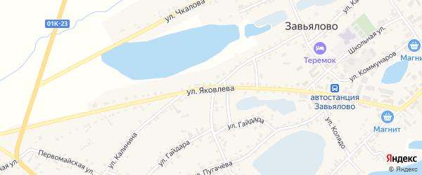 Улица Яковлева на карте села Завьялово с номерами домов