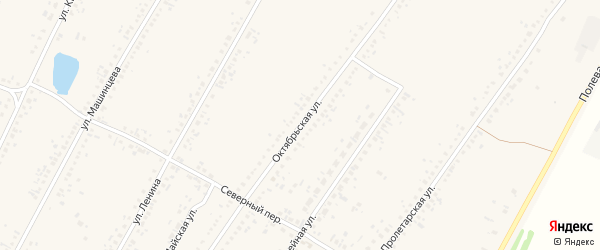 Октябрьская улица на карте Новоегорьевского села с номерами домов