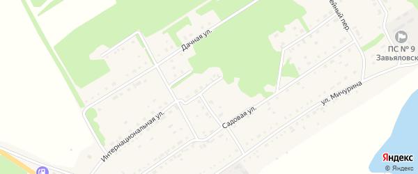 Интернациональная улица на карте села Завьялово с номерами домов