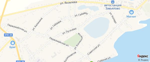 Улица Космонавтов на карте села Завьялово с номерами домов