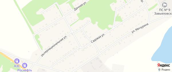Весенний переулок на карте села Завьялово с номерами домов