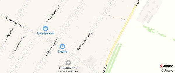 Пролетарская улица на карте Новоегорьевского села с номерами домов
