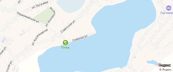 Озёрная улица на карте села Завьялово с номерами домов