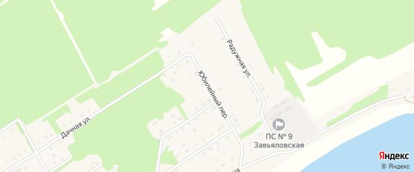 Юбилейный переулок на карте села Завьялово с номерами домов