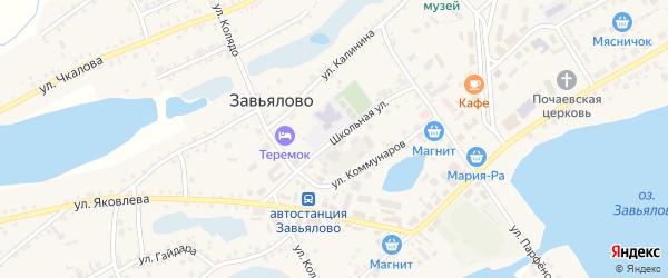 Школьная улица на карте села Завьялово с номерами домов
