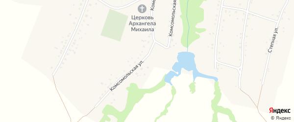 Комсомольская улица на карте села Малышева Лога с номерами домов