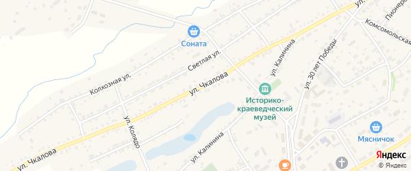 Улица Чкалова на карте села Завьялово с номерами домов