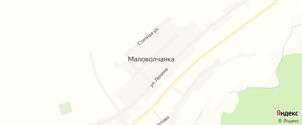 Карта села Маловолчанки в Алтайском крае с улицами и номерами домов