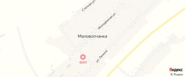 Советская улица на карте села Маловолчанки с номерами домов