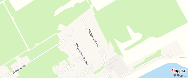 Радужная улица на карте села Завьялово с номерами домов