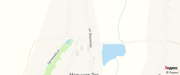 Улица Вариводы на карте села Малышева Лога с номерами домов