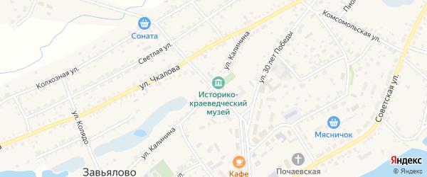 Центральная улица на карте села Завьялово с номерами домов