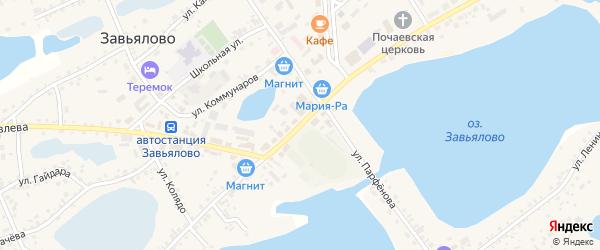 Советская улица на карте села Завьялово с номерами домов