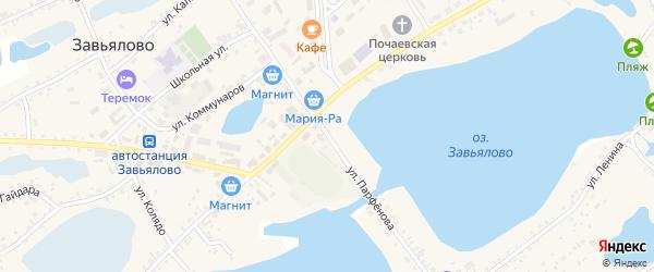Улица Парфёнова на карте села Завьялово с номерами домов