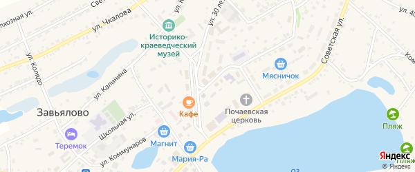 Улица Коммунаров на карте села Завьялово с номерами домов