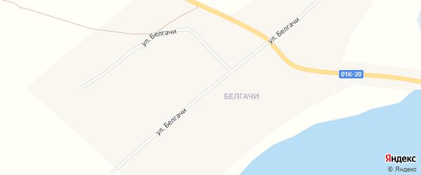 Улица Белгачи на карте села Селиверстово с номерами домов