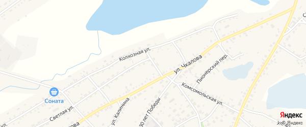 Солнечный переулок на карте села Завьялово с номерами домов