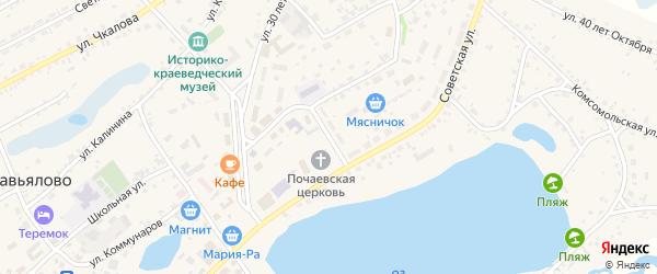 Театральная улица на карте села Завьялово с номерами домов