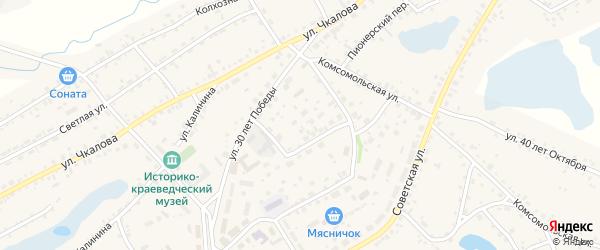 Улица 8 Марта на карте села Завьялово с номерами домов