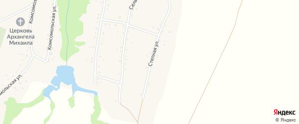 Степная улица на карте села Малышева Лога с номерами домов