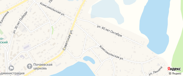 Комсомольская улица на карте села Завьялово с номерами домов