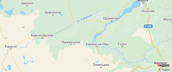 Карта Крутихинского района Алтайского края с городами и населенными пунктами