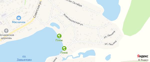 Гвардейская улица на карте села Завьялово с номерами домов