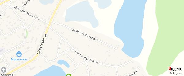 Улица 40 лет Октября на карте села Завьялово с номерами домов