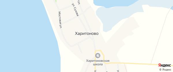 Карта села Харитоново в Алтайском крае с улицами и номерами домов