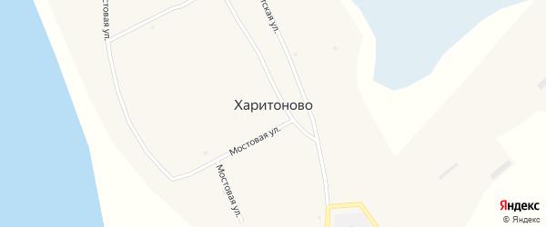 Береговая улица на карте села Харитоново с номерами домов