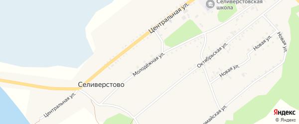 Молодежная улица на карте села Селиверстово с номерами домов