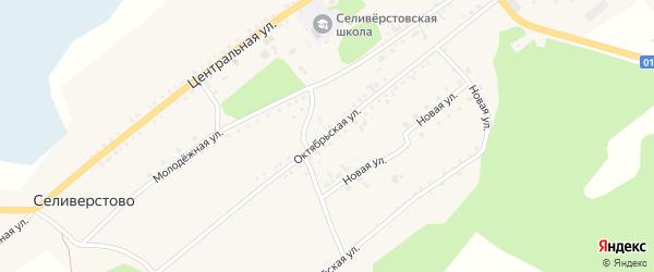Октябрьская улица на карте села Селиверстово с номерами домов