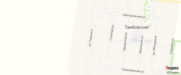 Улица Горького на карте Тамбовского поселка с номерами домов