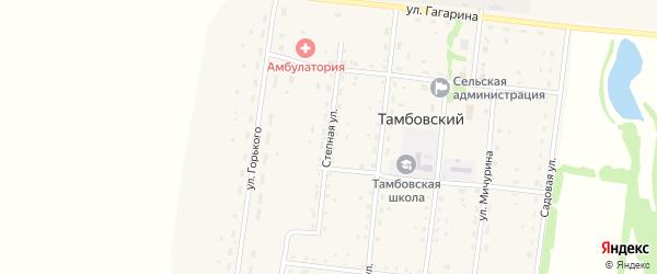 Степная улица на карте Тамбовского поселка с номерами домов