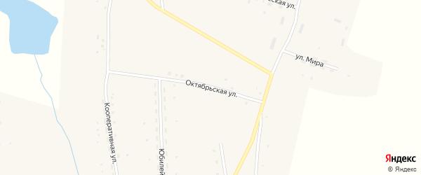 Октябрьская улица на карте Закладного села с номерами домов